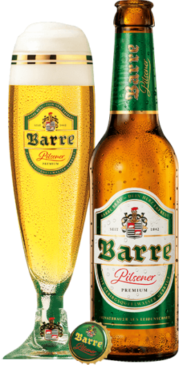Barre Flasche Glas